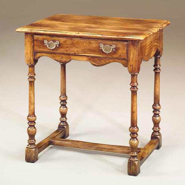 17th century style side table lamp side tables from for Table th width