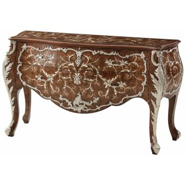 18th Century Neapolitan Italian Style Mother of Pearl Inlaid commode