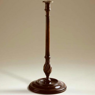 18th century style walnut candlestick