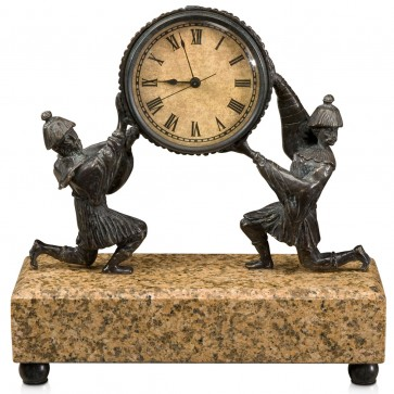 19th century Austrian style chinoiserie mantle clock