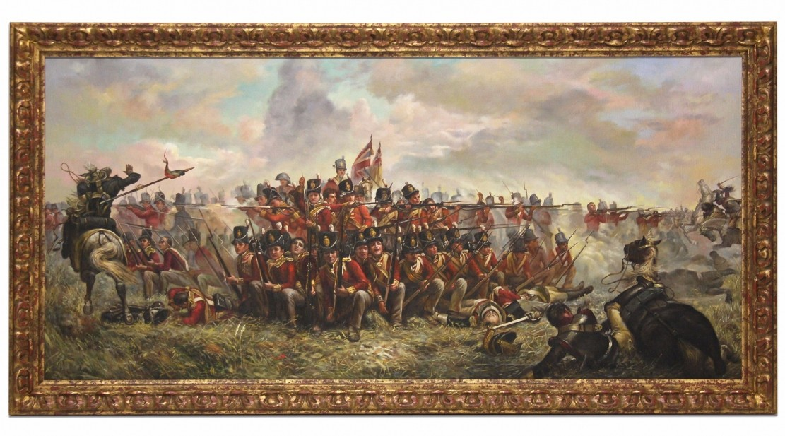 28th Regiment At Quatre Bras Gallery Paintings From
