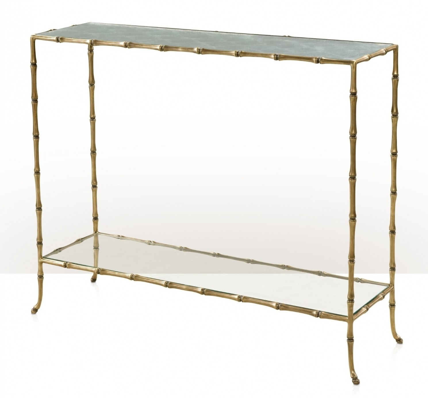A bamboo cast brass console table Console Hall tables from