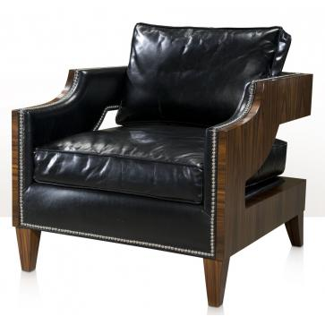 A Contemporary upholstered club chair