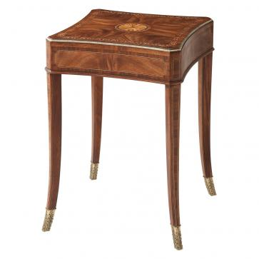 A fine flame Cerejeira veneered Venetta Accent Table II