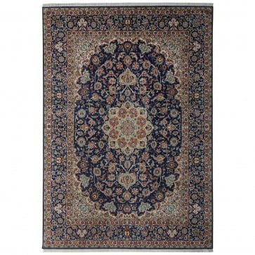 A Fine Kashan design silk pile carpet