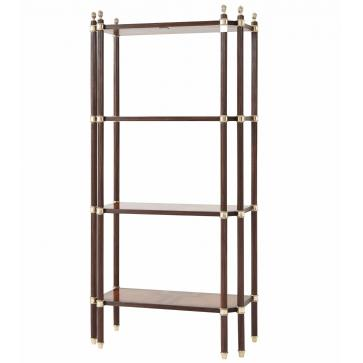 A finely parquetry veneered four tier etagere