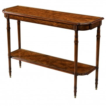 A flame mahogany console table