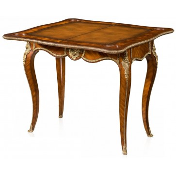 A mahogany and ormolu mounted card table