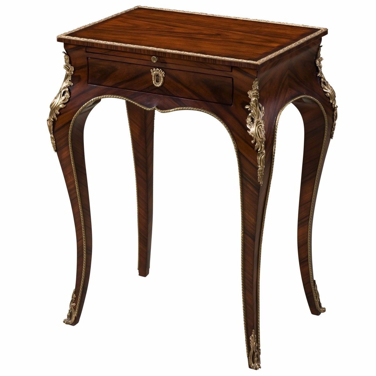 A mahogany and ormolu mounted lamp table