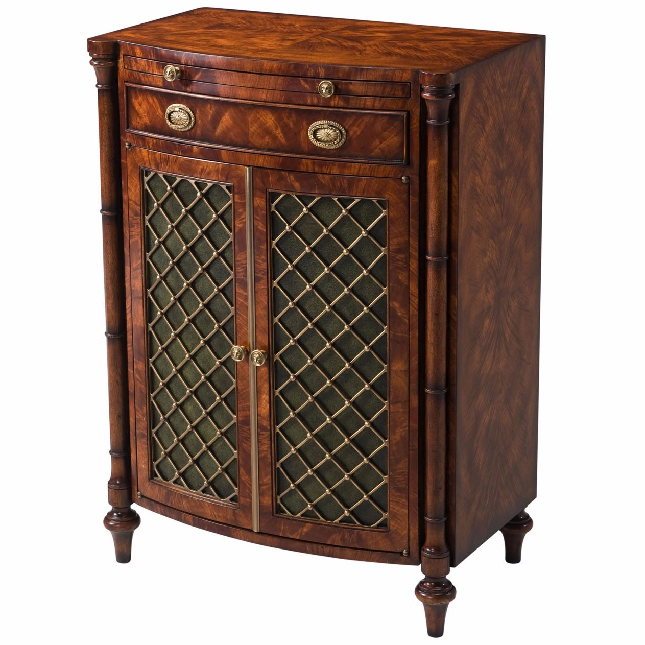 A mahogany bowfront Chiffonier or side cabinet
