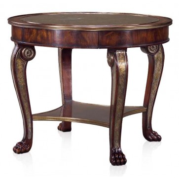 A mahogany eglomise panelled centre table