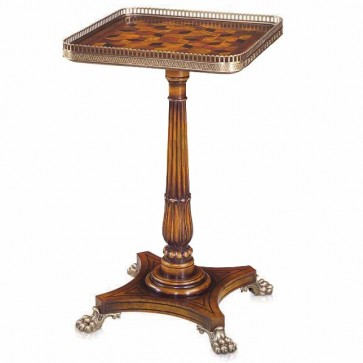 A mahogany inlaid lamp table