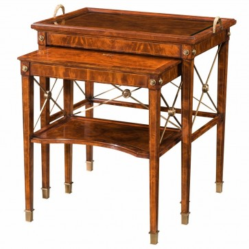 A mahogany nest of two tables in the Regency style