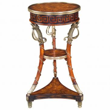 A mahogany three tier torchere