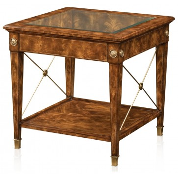 A manor flame mahogany veneered Regency style lamp table