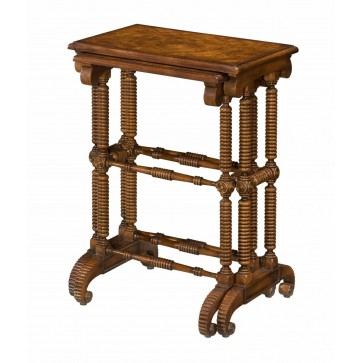 A nest of two mahogany tables
