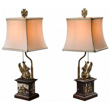 A pair of Spencer Griffin lamps