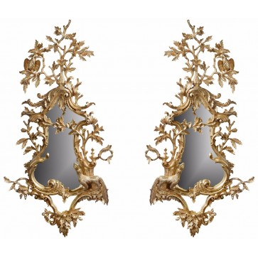 A pair of Thomas Johnson style mirrors