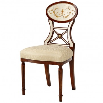 A rosewood veneered side chair