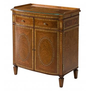 A Santo Domingo rosewood low bar cabinet