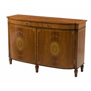 A Santo Domingo rosewood marquetry inlaid side cabinet