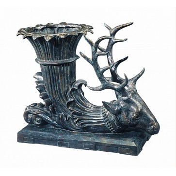 A verdigris brass hunting trophy