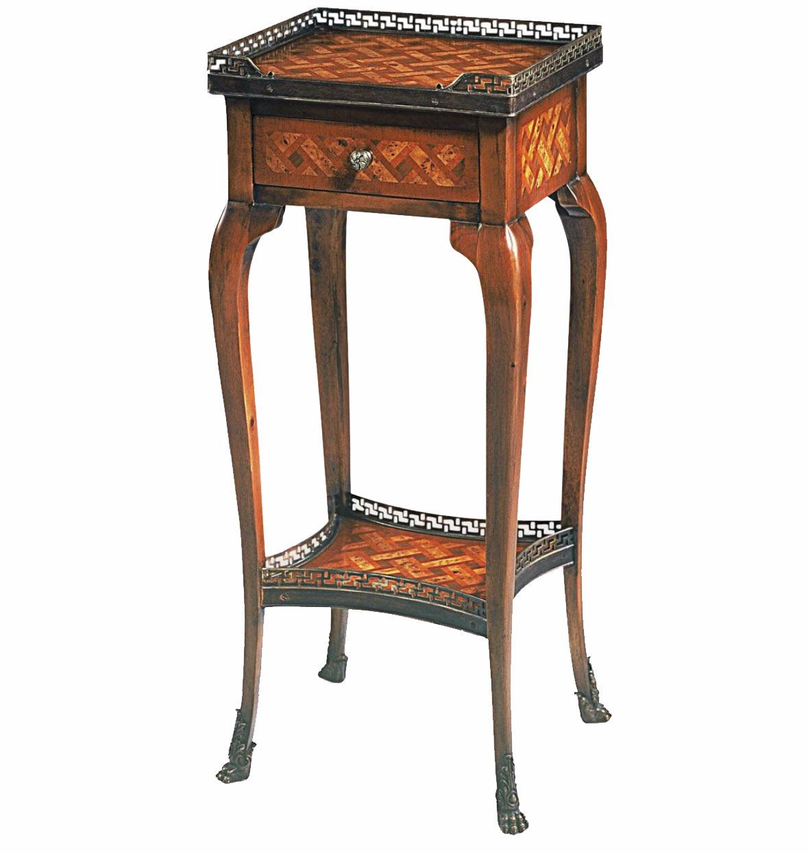 A walnut bedside or lamp table