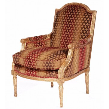 Alexander gilded chair in variegated chenille