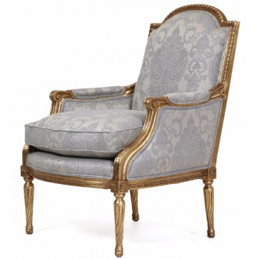 Alexander giltwood chair in Albany Glacier