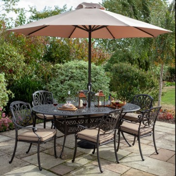 Amalfi oval dining set - 6 persons