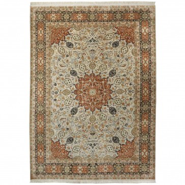 Ardabil Tabriz design 100% silk carpet