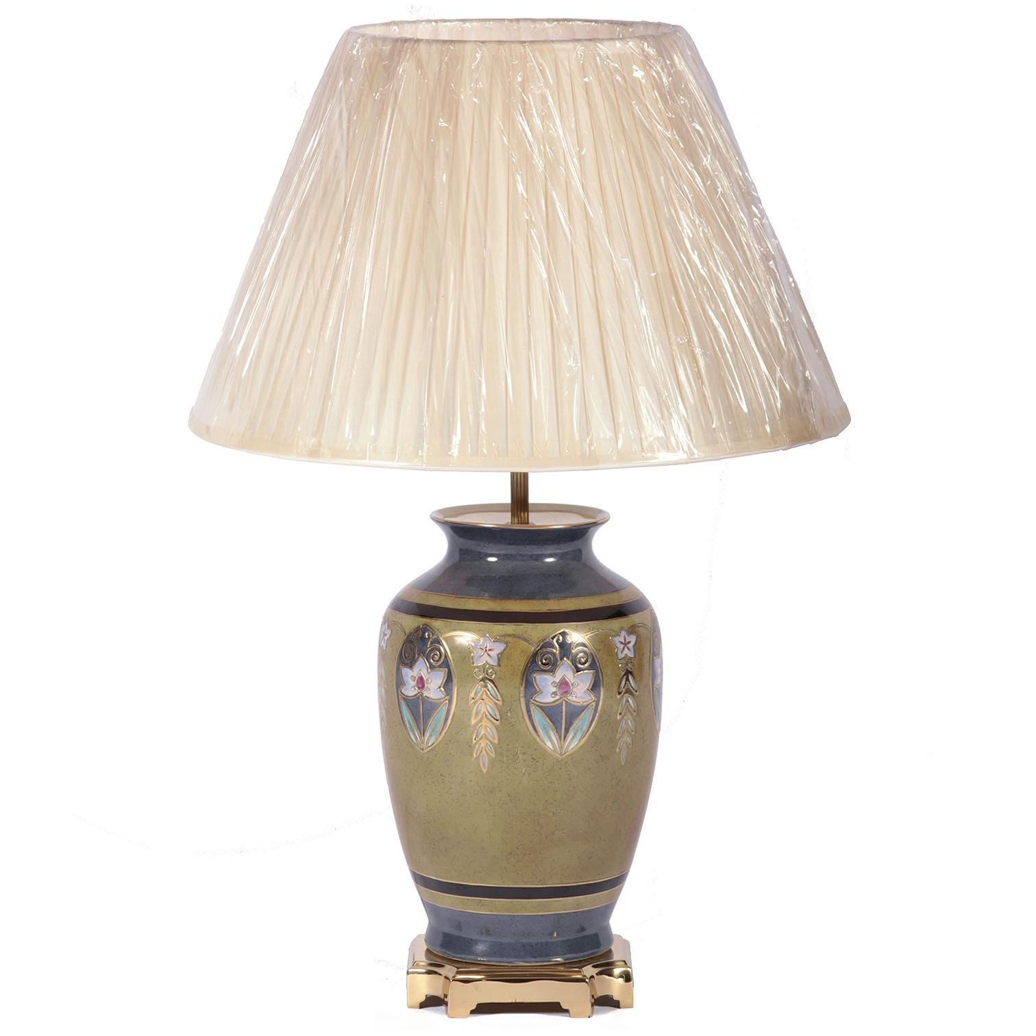 Art deco style table lamp with shade table lamps from for Art deco style lamp