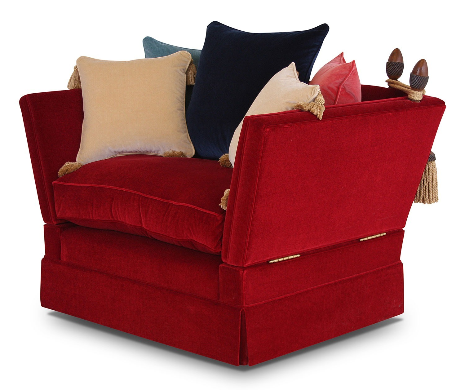 Aston Knole love seat in Riffle velvet