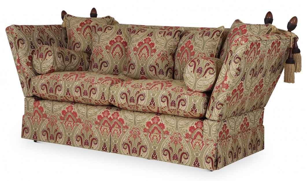 Aston Knole medium sofa in Jim Dickens Persia Cranberry