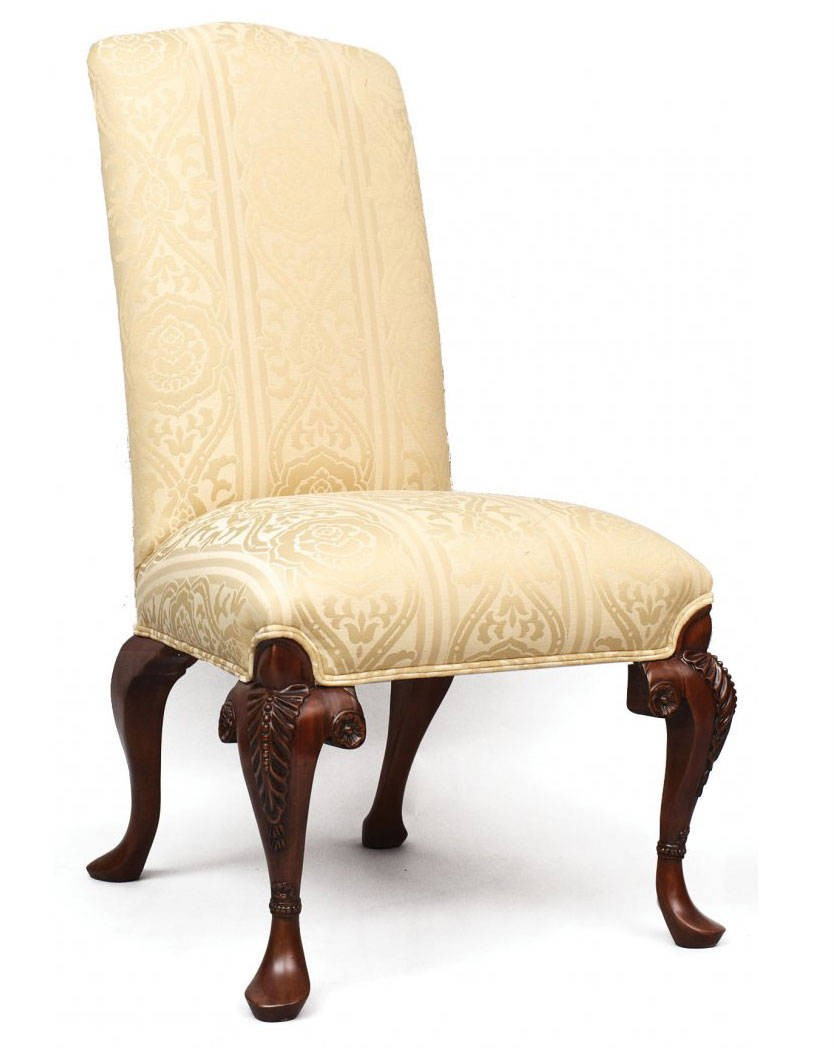 Auntie's dining side chair in sandstone fabric