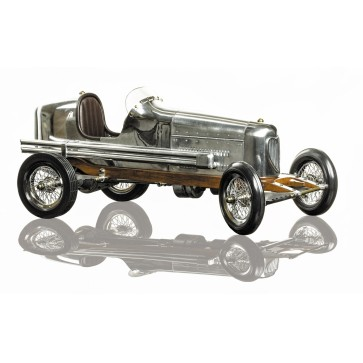 Bantam Midget model racing car - polished aluminium