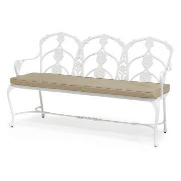 Barrington metal garden bench with seat cushion