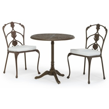 Barrington metal outdoor pedestal set