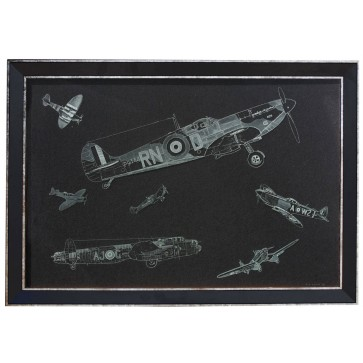 Battle Of Britain Hand engraving on glass