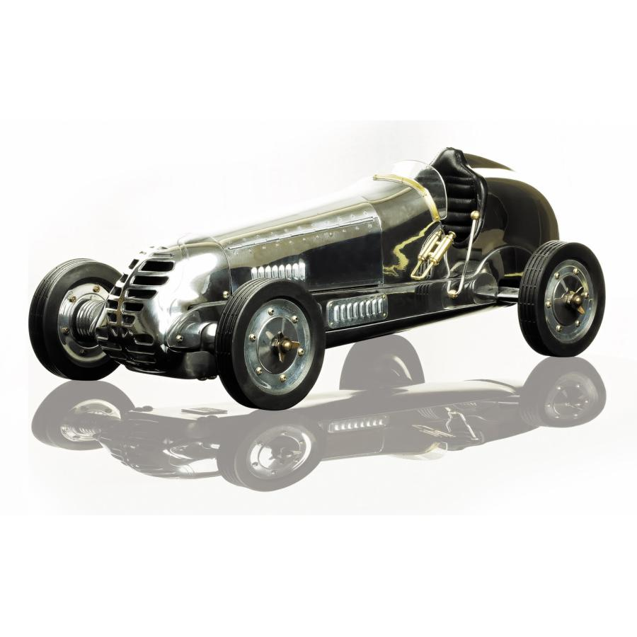 BB Korn model racing car - polished aluminium