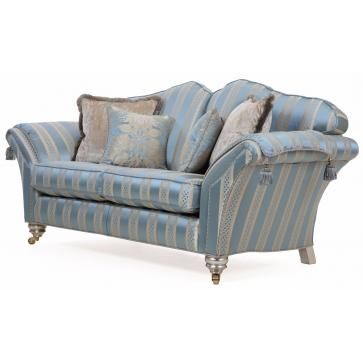 Beckingham 2.5 seat sofa in blue silk