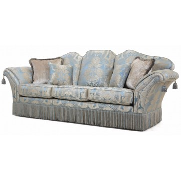 Beckingham 3.5 seat sofa in blue silk