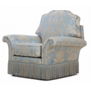 Beckingham chair in blue silk