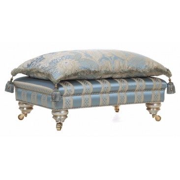 Fabric footstools in stock
