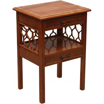 Bedside unit in crotch mahogany
