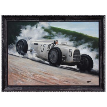 Bernd Rosemeyer in the Auto Union Type C