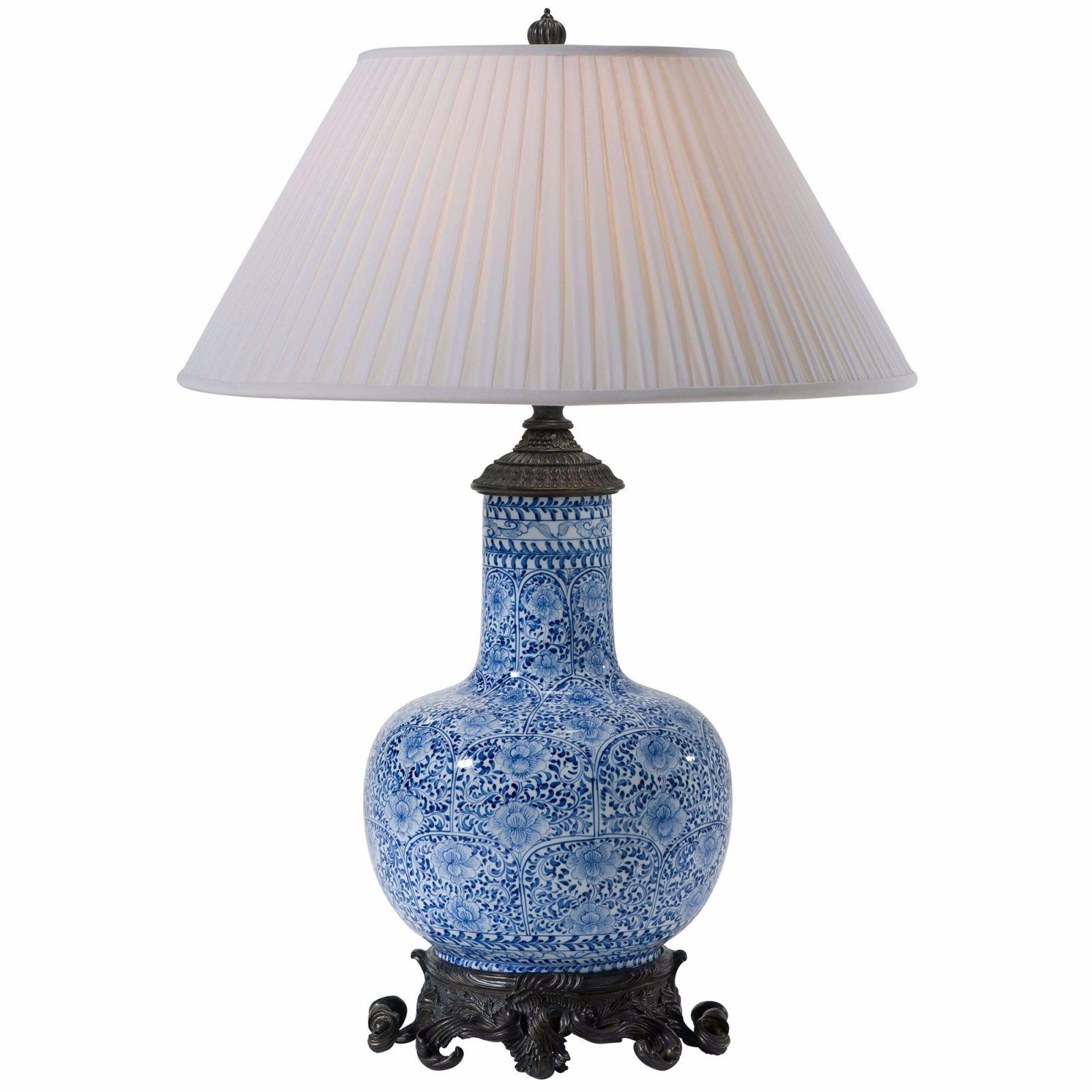 blue and white ceramic table lamp table lamps from brights of nettlebed. Black Bedroom Furniture Sets. Home Design Ideas