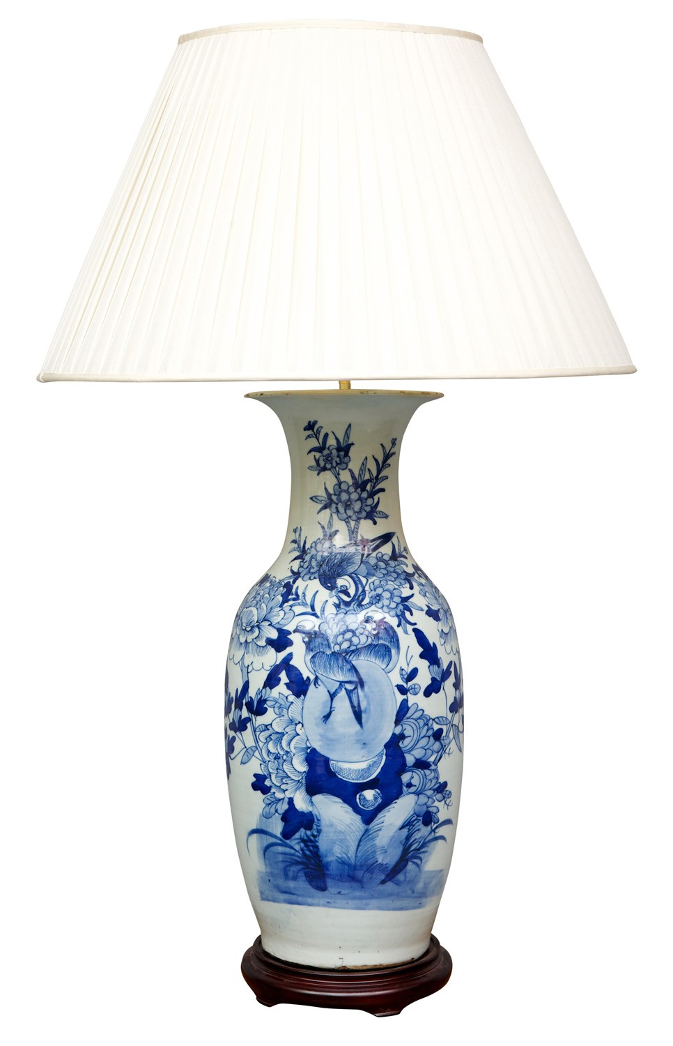 blue and white table lamp table lamps from brights of. Black Bedroom Furniture Sets. Home Design Ideas