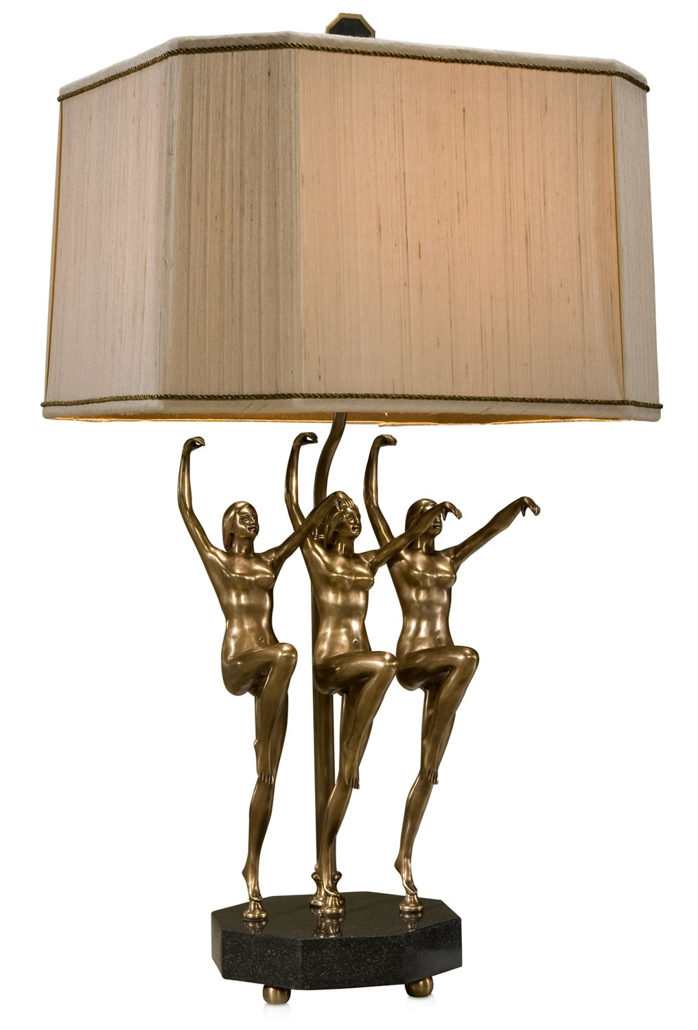 Brass Art Deco table lamp