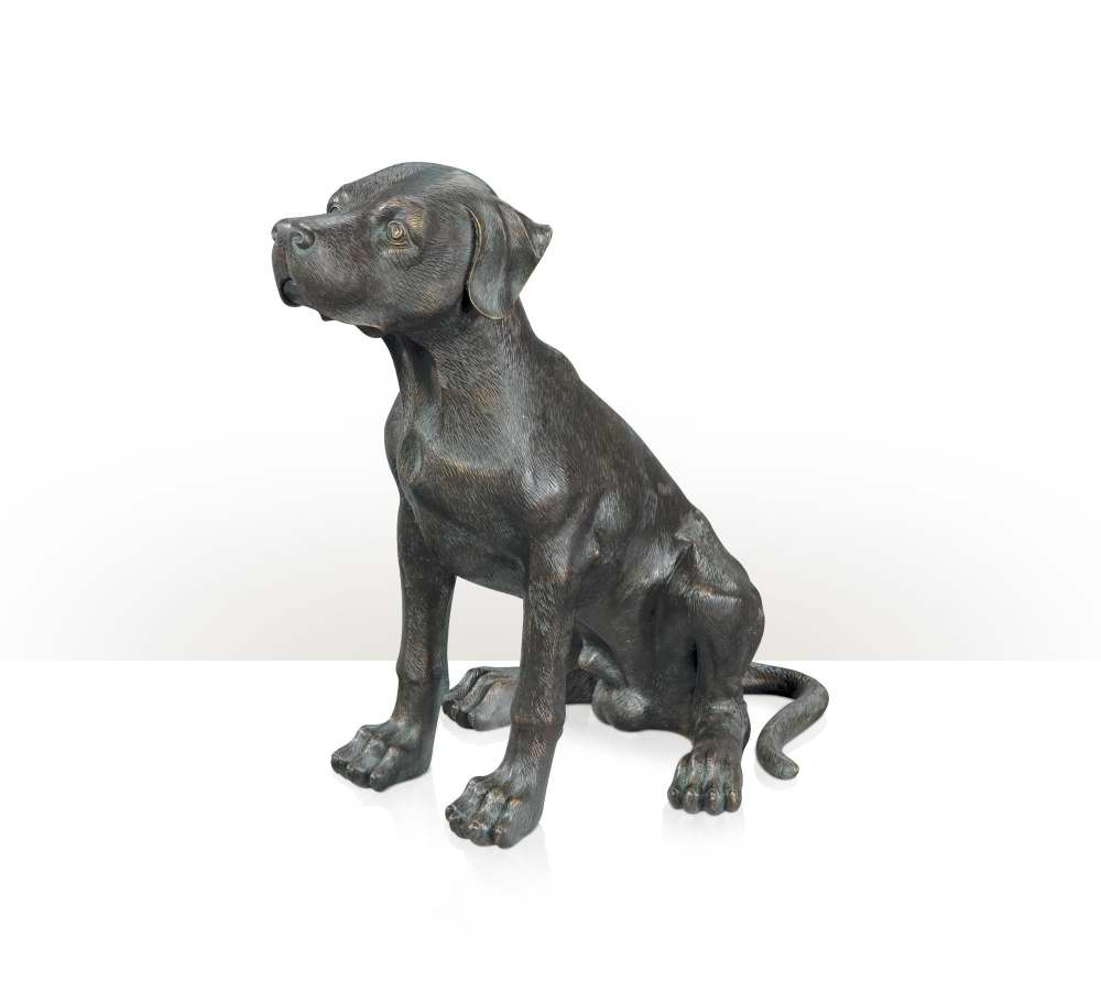Brass model of a puppy dog